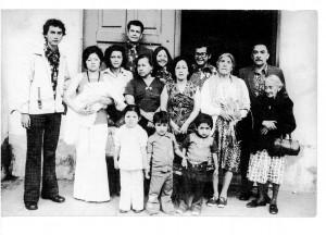 Edgar Rubén Ortíz Santizo y su familia.