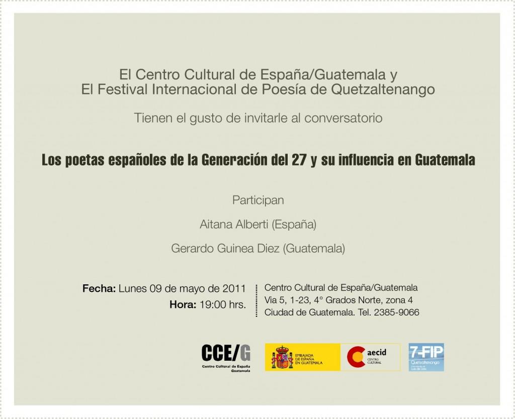 La generación del 27 y su influencia en Guatemala