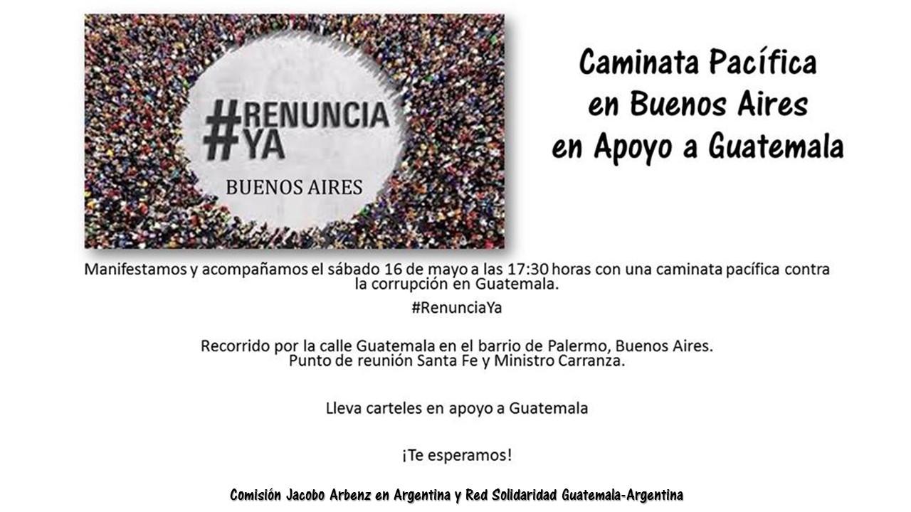 Convocatoria #RenunciaYa Argentina Mayo 16, 2015