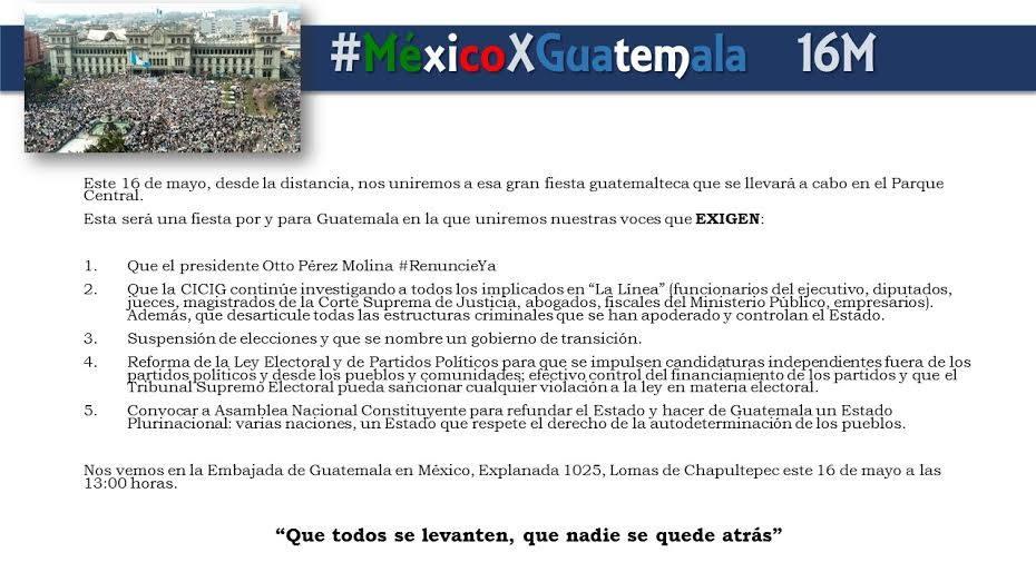 Convocatoria #RenunciaYa Mexico Mayo 16, 2015