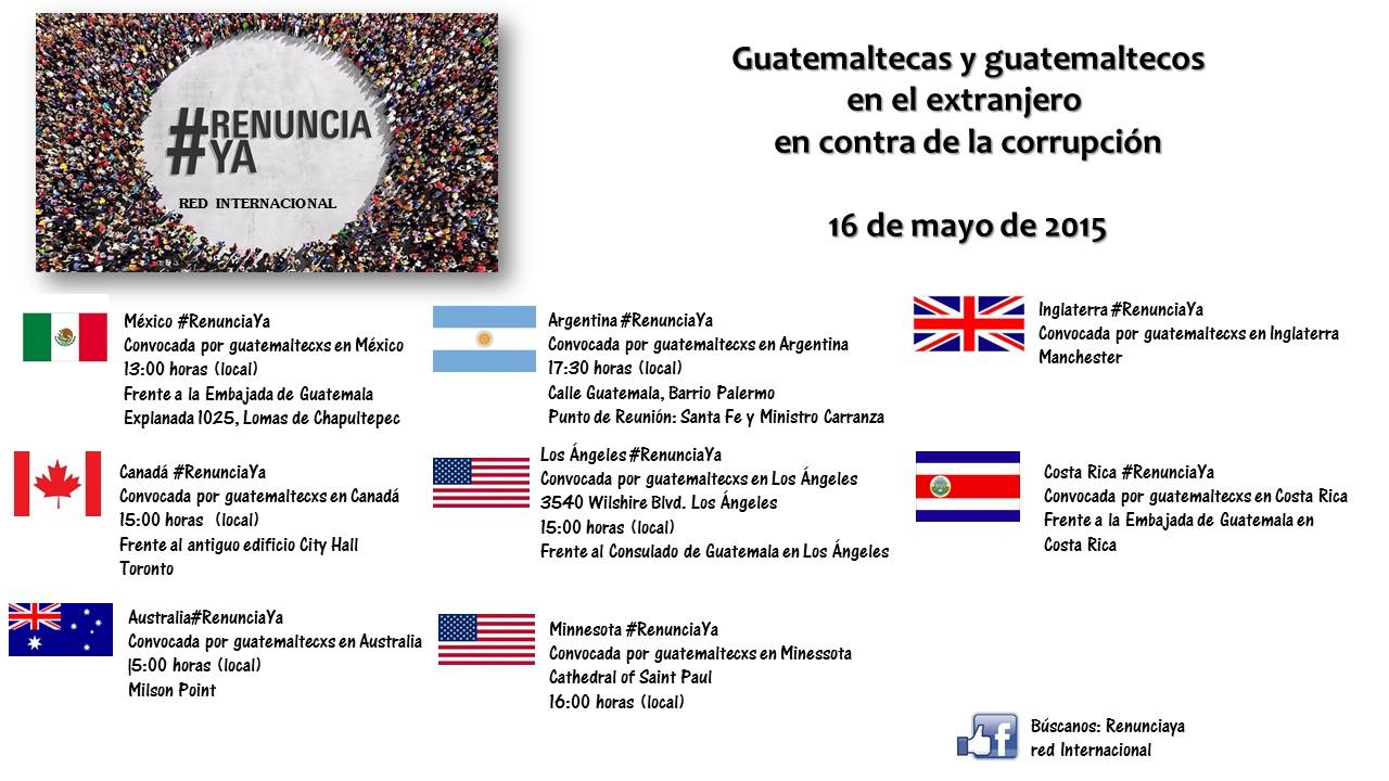 #RenunciaYa - Red Internacional