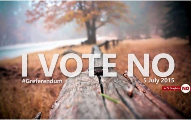 Votar no en el referendum griego