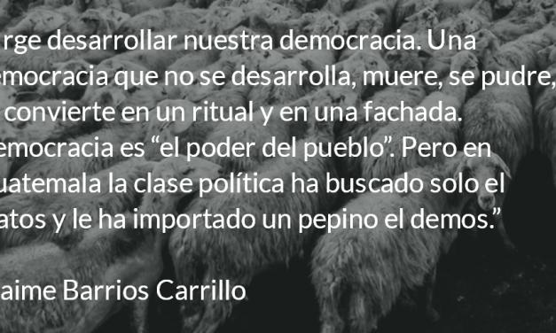 Democracia y partidos políticos. Jaime Barrios Carrillo.