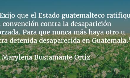 Treinta y cuatro febreros han pasado de la desaparición forzada de Emil Bustamante. Marylena Bustamante Ortiz.
