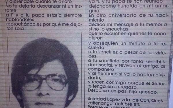 """Le apodaban """"El Indio"""", su nombre era Alejandro Cotí. Julio C. Palencia."""