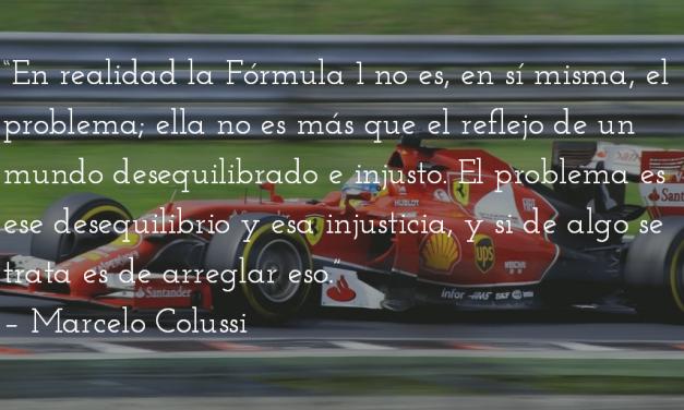 Fórmula 1: ¿deporte? Marcelo Colussi