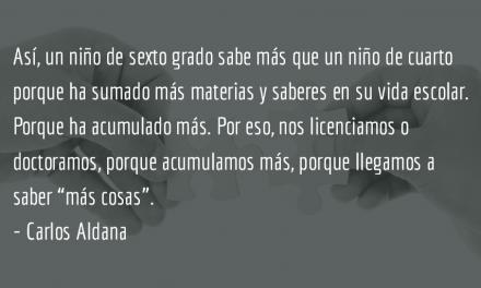 Aprender: acumulación o conexión. Carlos Aldana.