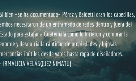 Los procesos contra Baldetti y Pérez son históricos. Irmalicia Velásquez Nimatuj.