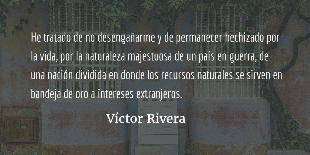 Cuando aún era de noche o la búsqueda poética del origen. Víctor Rivera.