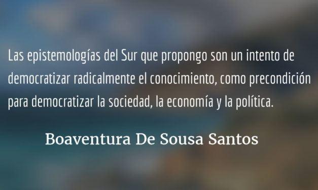 """Entrevista con Boaventura De Sousa Santos """"Vivimos en sociedades políticamente democráticas pero socialmente fascistas"""""""