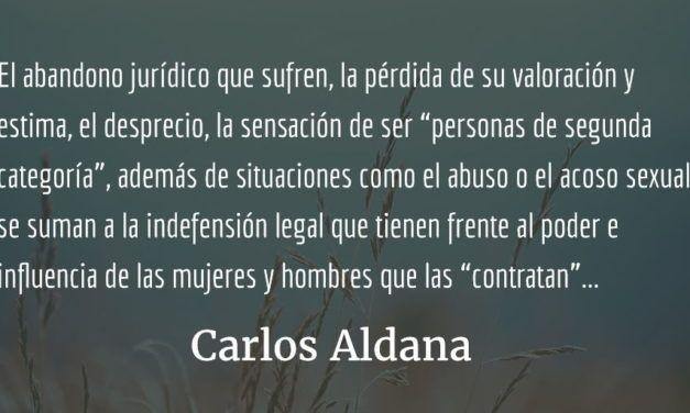 Las trabajadoras domésticas. Carlos Aldana.