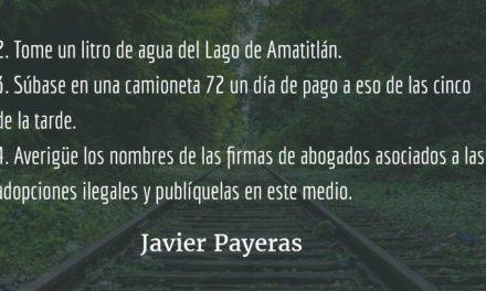 Sugerencias para suicidarse en Guatemala. Javier Payeras.