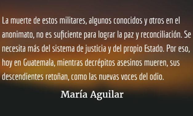 La muerte del comisionado Cándido Noriega. María Aguilar.