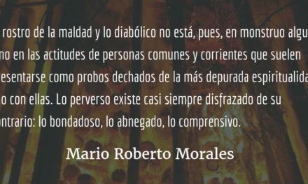 Manifestaciones de lo diabólico. Mario Roberto Morales.