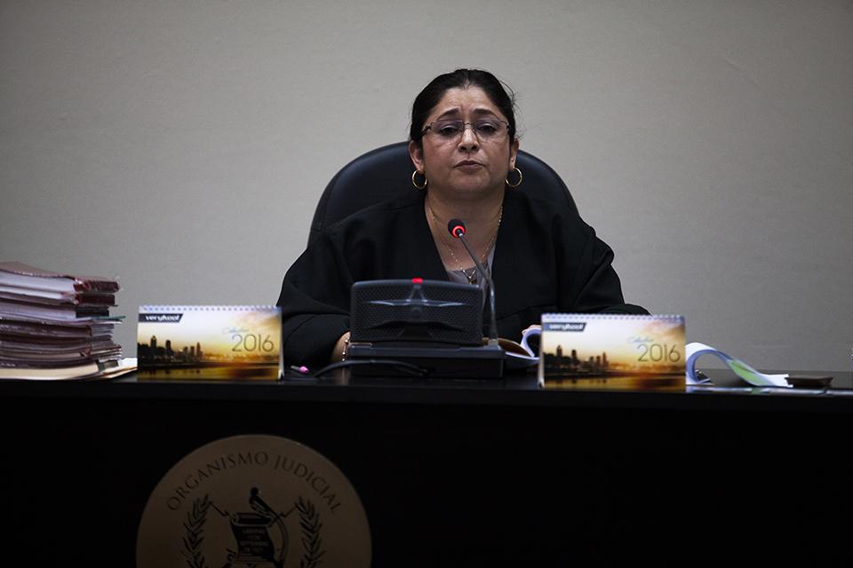 La jueza Claudette Dominguez no aceptó los planes militares por considerarlos secreto militar. Foto: Sandra Sebastián