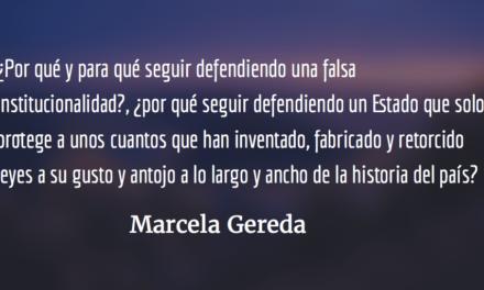 Contingencia histórica.  Marcela Gereda.