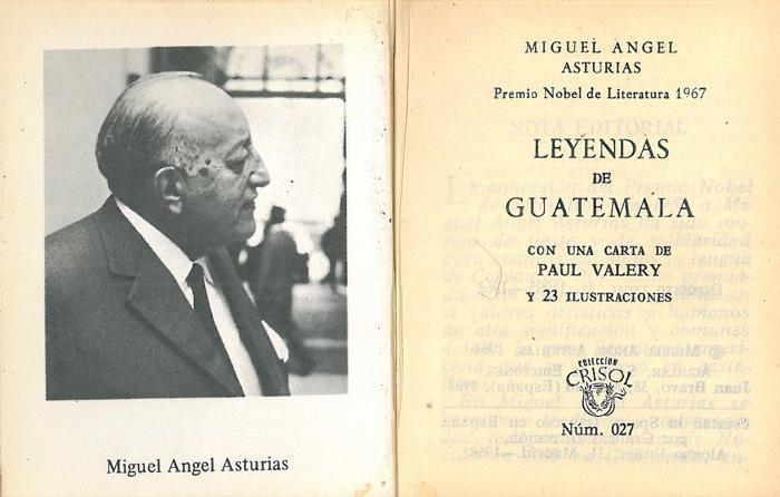 Carta de Paul Valéry a Francis de Miomandre a propósito de Leyendas de Guatemala