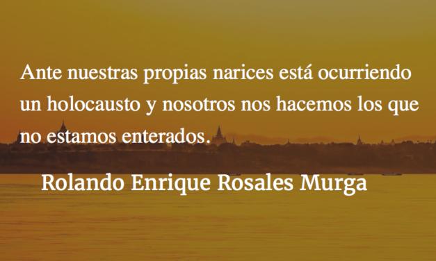 Genocidio en Myanmar. Rolando Enrique Rosales Murga.