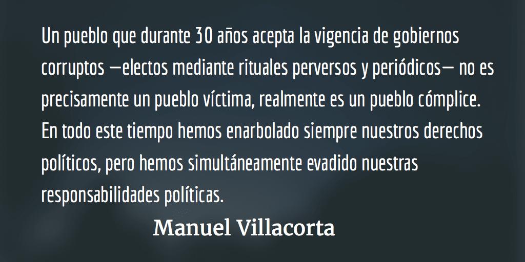 Corrupción política: todos somos responsables. Manuel Villacorta.