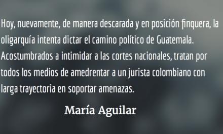 La oligarquía y su pacto de corruptos. María Aguilar.