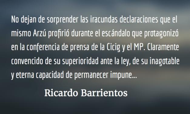 Arzú, el defensor de Jimmy. Ricardo Barrientos.