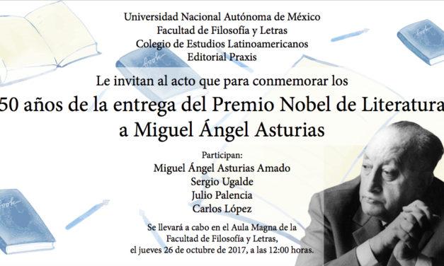 50 años de entrega del Premio Nobel a Miguel Ángel Asturias