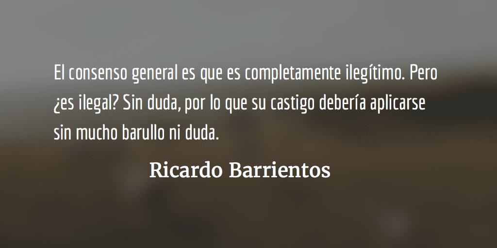 El bono militar no debe quedar impune. Ricardo Barrientos.