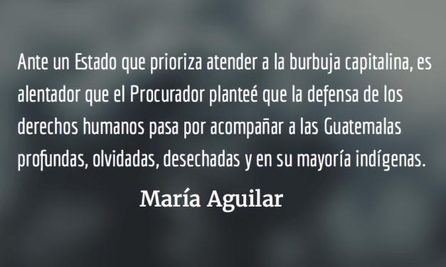 Jordán Rodas en la mira de grupos ilegales y clandestinos. María Aguilar.