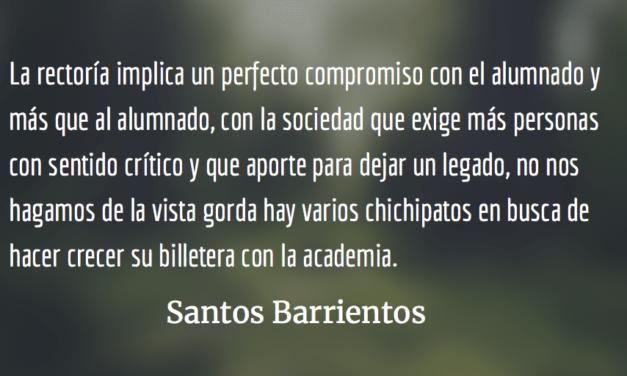 Candidatos a Rectoría en la USAC: Retos de la Innovación Educativa. Santos Barrientos.
