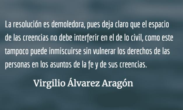 Matrimonio: derecho de todos. Virgilio Álvarez Aragón.