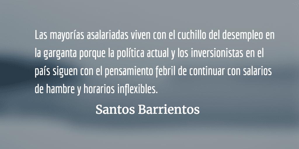 Ahogados en la podredumbre: un país que escupe jóvenes y alimenta caníbales. Santos Barrientos.