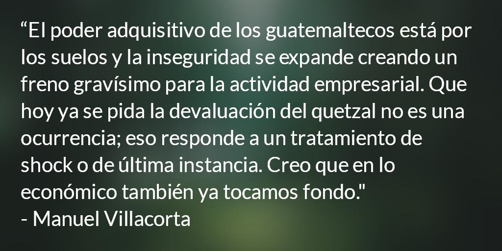 Devaluación: esto apenas empieza. Manuel R. Villacorta O.