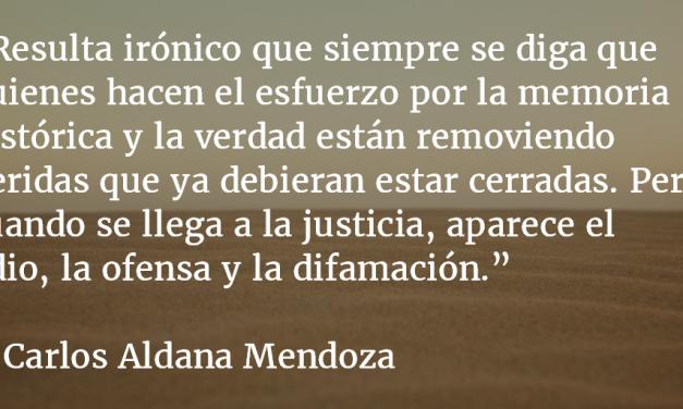 La difamación de defensores. Carlos Aldana Mendoza.