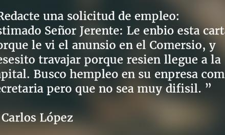 Examen de español. Carlos López.