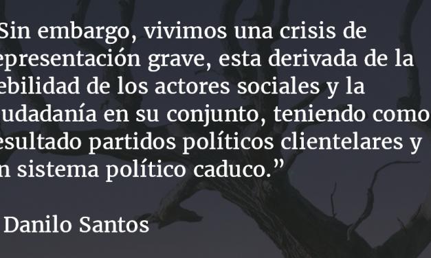 Crisis de representación. Danilo Santos.
