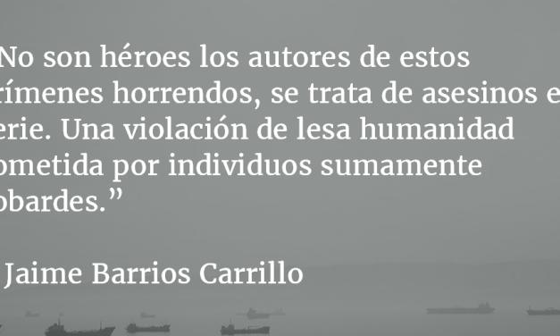 Los ojos de los enterrados. Jaime Barrios Carrillo.
