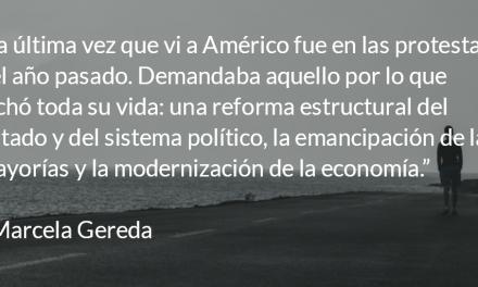 Américo, una vida de coherencia, esperanza y lealtad. Marcela Gereda.