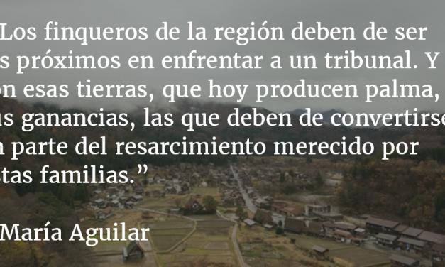 El triunfo de las mujeres de Sepur Zarco. María Aguilar.