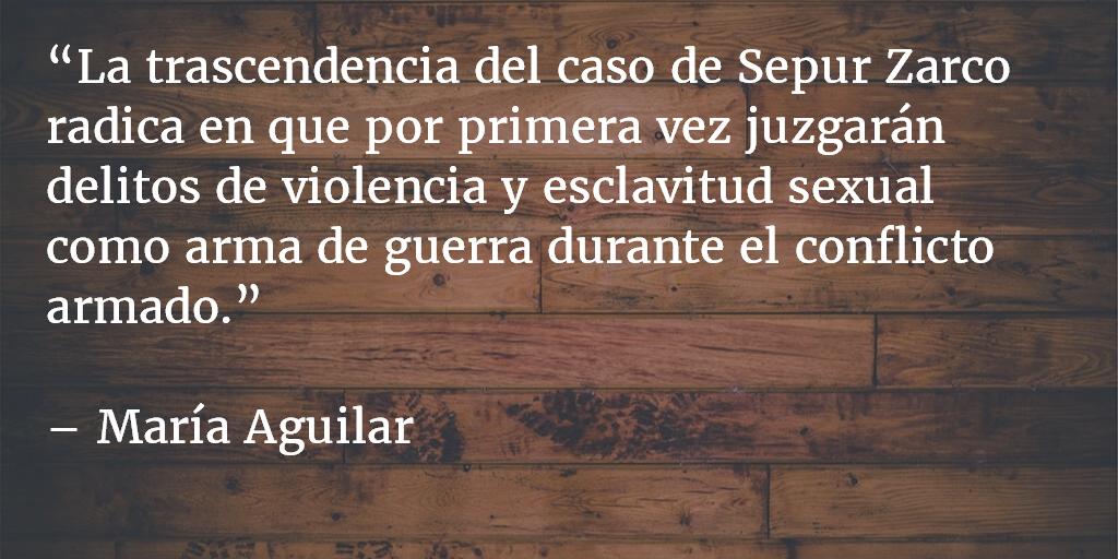 Crímenes sexuales del Estado a tribunales. María Aguilar.