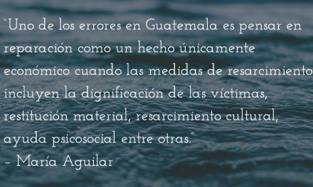 Políticas de resarcimiento. María Aguilar.