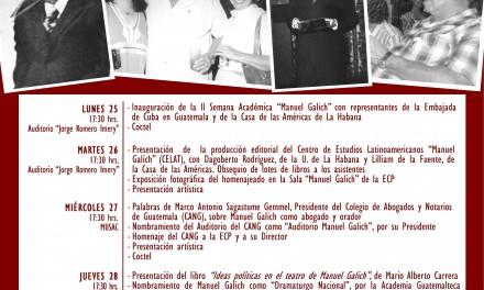 "II Semana Académica Cubano-Guatemalteca ""Manuel Galich"""