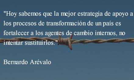 En qué concuerdo y en qué disiento del embajador. Bernardo Arévalo.