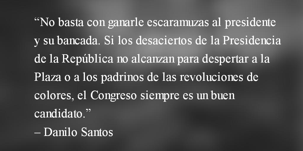 El Ejecutivo llora… Danilo Santos