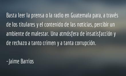 "Matrimonio ""frágil"". Jaime Barrios."