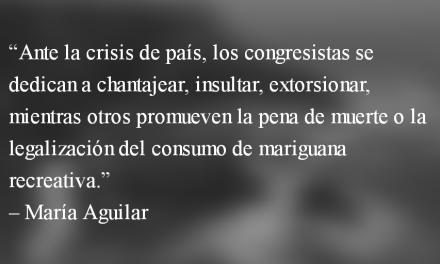 La podredumbre del orden constitucional. María Aguilar.