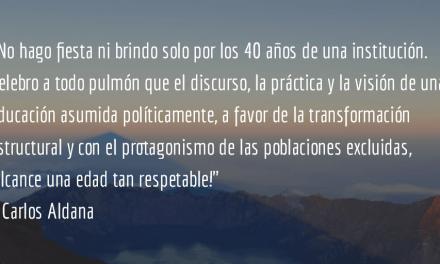 Fe y Alegría. Carlos Aldana.