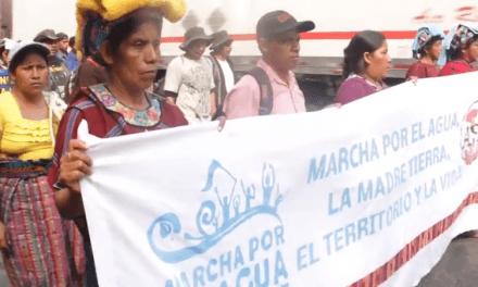 Marcha por el agua – Guatemala 2016