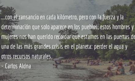 Por el agua. Carlos Aldana.