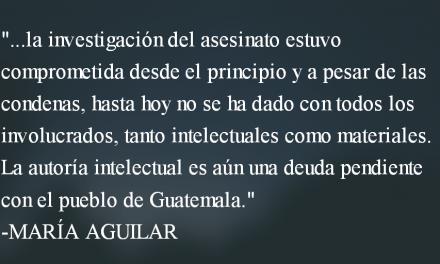Sin justicia no hay paz. María Aguilar.