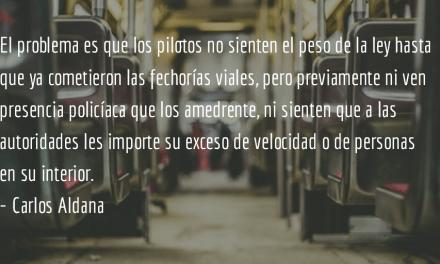 Tres elementos contra el salvajismo. Carlos Aldana.